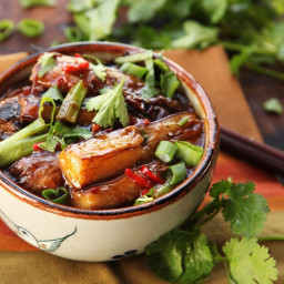 Sichuan-Style Braised Eggplant With Pickled Chilies and Garlic (Yu Xiang Qi