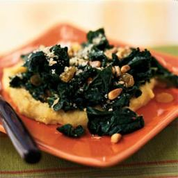 Sicilian-Style Greens over Polenta