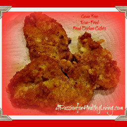 Simple and Plain, Grain Free/Pan Fried Breaded Chicken Cutlets