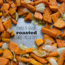 Simple and Savory Roasted Sweet Potatoes and Carrots