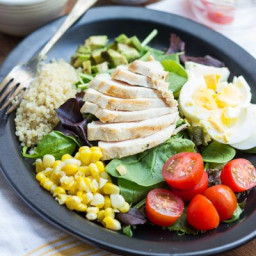 Simple Cobb Salad with Quinoa