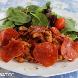 Simple Crock Pot Pizza Casserole