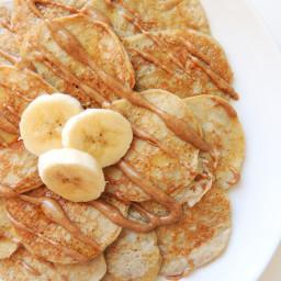 Simple Grain-Free Cinnamon Banana Pancakes