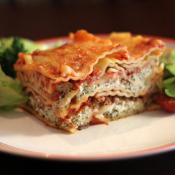 Simple Lasagna With Mushrooms and Green Peppers Recipe
