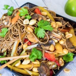 Simple Peanut Soba Noodles