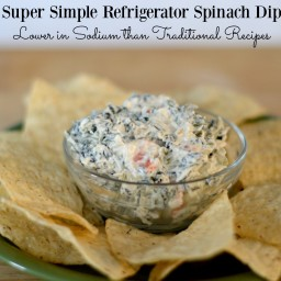 Simple Refrigerator Spinach Dip: Lower in Sodium