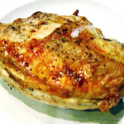 Simple Roast Bone-in Skin-on (Split) Chicken Breast