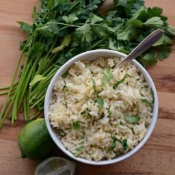 Simple Santa Fe Rice with Cilantro and Garlic