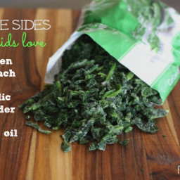 Simple Sides: Frozen Spinach + Garlic Powder and Olive Oil
