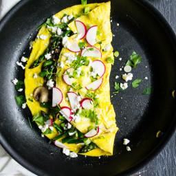 Simple Spring Veggie Omelet
