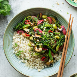 Simple stir-fry with spring veggies