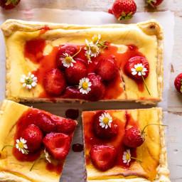 Simple Strawberry Chamomile Cheesecake