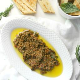 Simple Vegan Mediterranean Spread