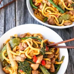 Simple Chicken Noodle Stir Fry