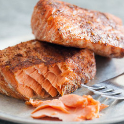 Simplest Roasted Rubbed Salmon