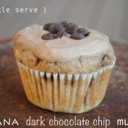 {Single Serve} Banana Dark Chocolate Chip Muffin