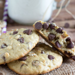 Single-Serving Size Oatmeal Chocolate-Chip Cookies
