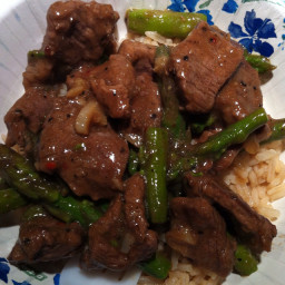 Sirloin Steak and Asparagus Stir-fry