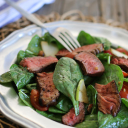 Sirloin Steak and Spinach Salad