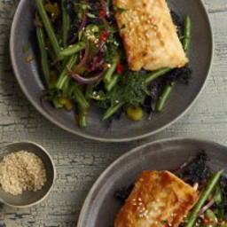 SIRTFOOD MISO BAKED COD WITH STIR FRIED GREENS