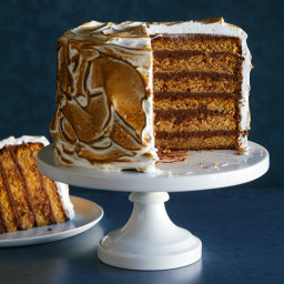 Six Layer S'mores Cake