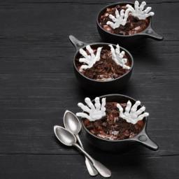 Skeleton Hand Pudding