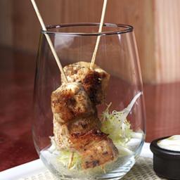 Skewers of Cumin Chicken with Yogurt Lemon Honey Dipping Sauce