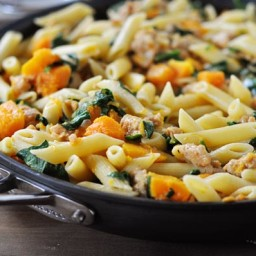 Skillet Butternut Squash and Penne Pasta