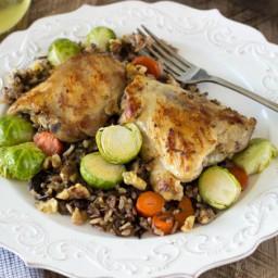 Skillet Chicken and Wild Rice