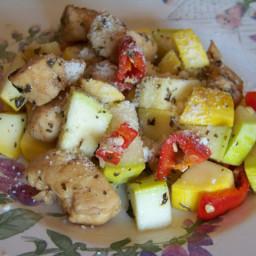 Skillet Chicken with Summer Squash
