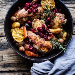 Skillet Cranberry Roasted Chicken.