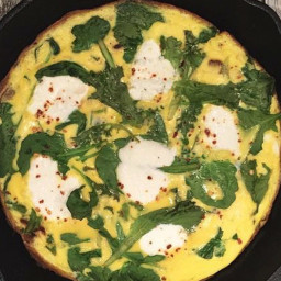 Skillet Frittata with Kale, Mushrooms and Ricotta