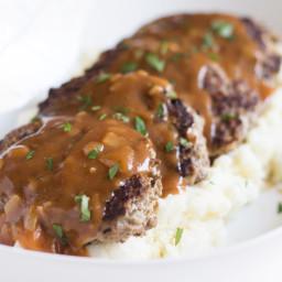 Skillet Meatloaf with Pan Gravy