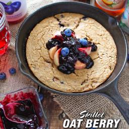 Skillet Oat Berry Tea Cake