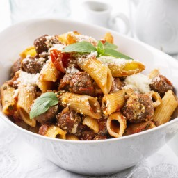Skillet Penne and Sausage Supper