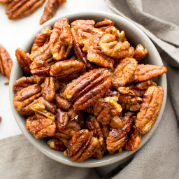 Skillet-Roasted Maple Cinnamon Pecans (Vegan, Paleo, Gluten Free, Dairy Fre