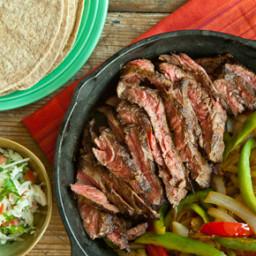 Skillet Skirt Steak Fajitas with Jicama Salsa