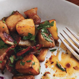 Skillet Turnips and Potatoes with Bacon