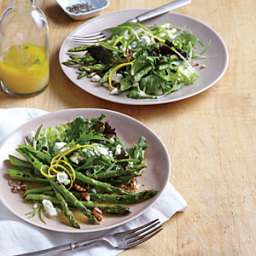 Skillet Asparagus Salad with Goat Cheese
