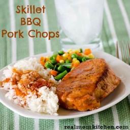 Skillet BBQ Pork Chops