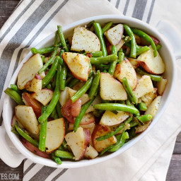 Skillet Potatoes and Green Beans