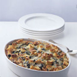 skillet strata with spinach and feta