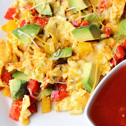 Skinny Avocado Egg Scramble