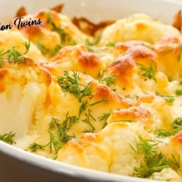 Skinny Cauliflower Gratin