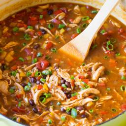 Skinny Chicken Fajita Soup