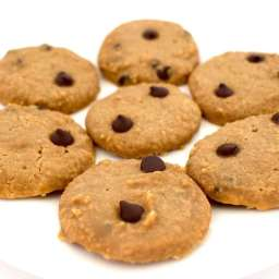 Skinny Chocolate Chip Cookies (Vegan + Keto + Low-Carb + Gluten-Free)