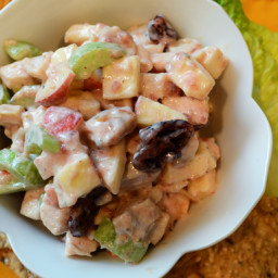 Skinny Cranberry Dijon Turkey Salad from Thanksgiving Leftovers