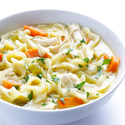(Skinny!) Creamy Chicken Noodle Soup