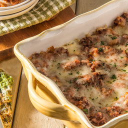Skinny Four-Cheese Meat Lasagna