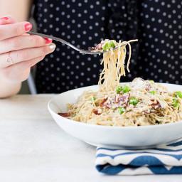 Skinny Pasta Carbonara